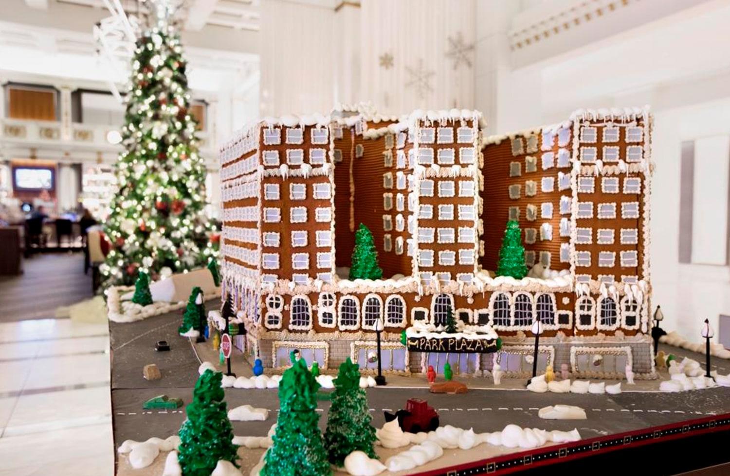 gingerbread house model of boston park plaza hotel